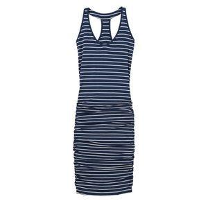 Athleta striped tee racerback dress small